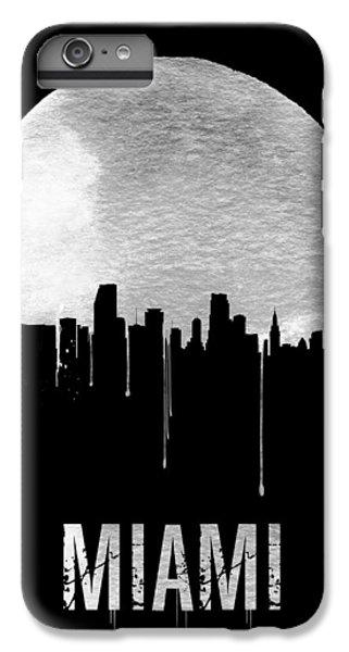 Miami Skyline Black IPhone 6s Plus Case by Naxart Studio