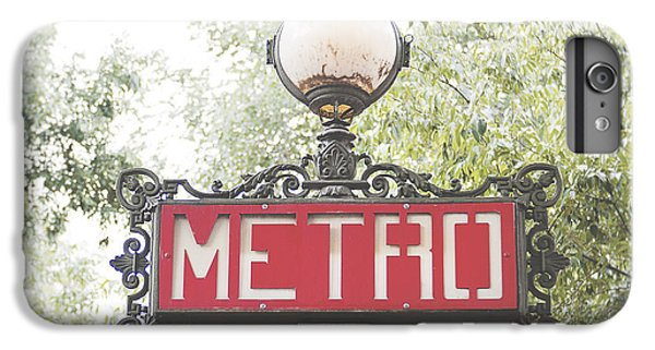 Ornate Paris Metro Sign IPhone 6s Plus Case by Ivy Ho