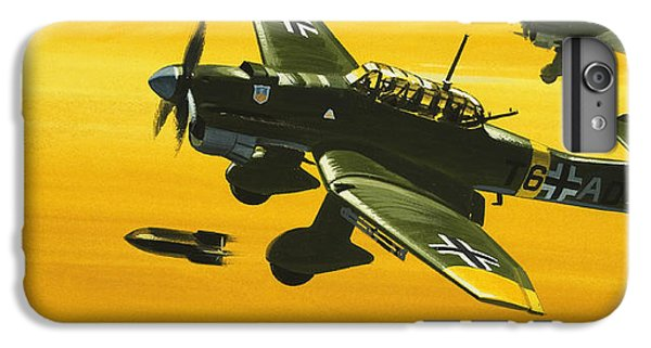 Overboard Junkers Ju87 Stuka Dive Bomber IPhone 6s Plus Case by Wilf Hardy