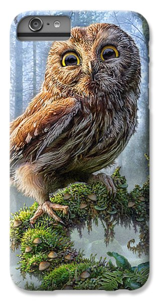 Owl Perch IPhone 6s Plus Case by Phil Jaeger
