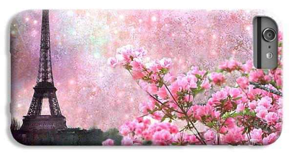 Paris Eiffel Tower Cherry Blossoms - Paris Spring Eiffel Tower Pink Blossoms  IPhone 6s Plus Case by Kathy Fornal