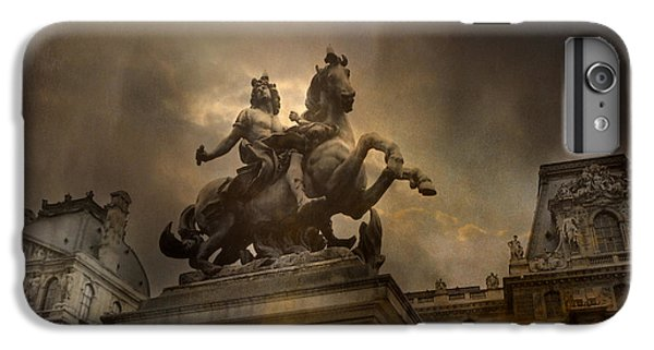 Paris - Louvre Palace - Kings Of Paris - King Louis Xiv Monument Sculpture Statue IPhone 6s Plus Case by Kathy Fornal