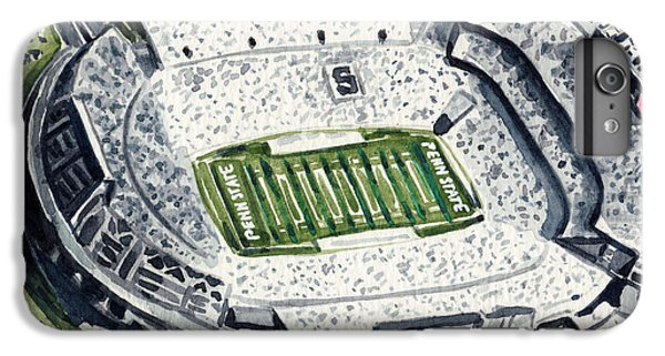 Penn State Beaver Stadium Whiteout Game University Psu Nittany Lions Joe Paterno IPhone 6s Plus Case by Laura Row