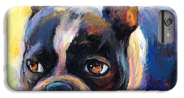 Pensive Boston Terrier Dog Painting IPhone 6s Plus Case by Svetlana Novikova