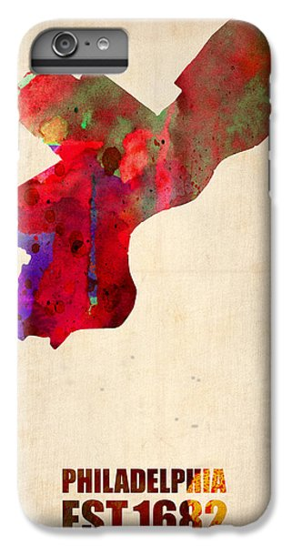 Philadelphia Watercolor Map IPhone 6s Plus Case by Naxart Studio