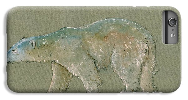 Polar Bear Original Watercolor Painting Art IPhone 6s Plus Case by Juan  Bosco