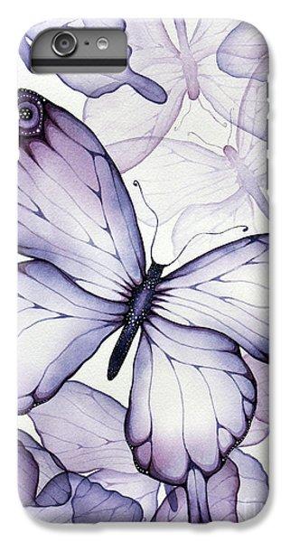 Purple Butterflies IPhone 6s Plus Case by Christina Meeusen