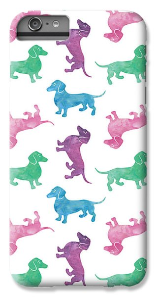 Raining Dachshunds IPhone 6s Plus Case by Antique Images