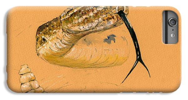 Rattlesnake Painting IPhone 6s Plus Case by Juan  Bosco