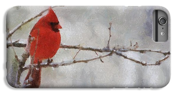 Red Bird Of Winter IPhone 6s Plus Case by Jeff Kolker