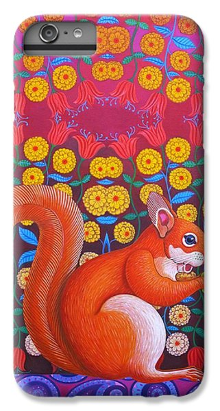 Red Squirrel IPhone 6s Plus Case by Jane Tattersfield