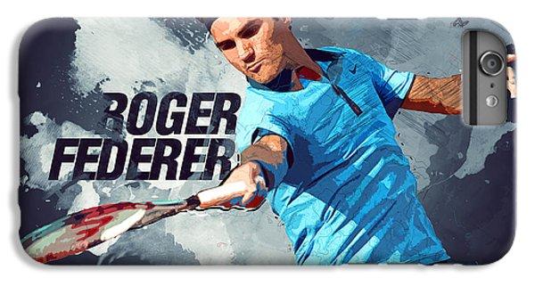 Roger Federer IPhone 6s Plus Case by Semih Yurdabak