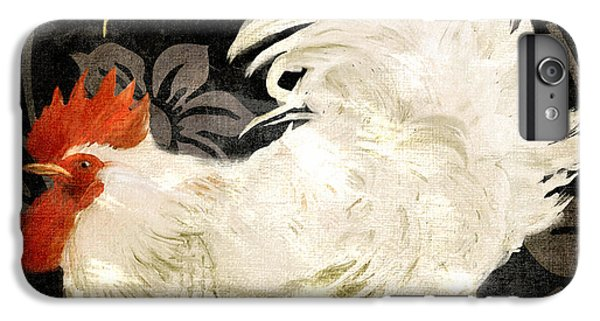 Rooster Damask Dark IPhone 6s Plus Case by Mindy Sommers