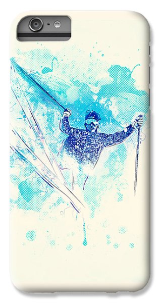 Skiing Down The Hill IPhone 6s Plus Case by Bekare Creative