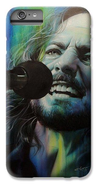 Eddie Vedder - ' Spectrum Of Vedder ' IPhone 6s Plus Case by Christian Chapman Art