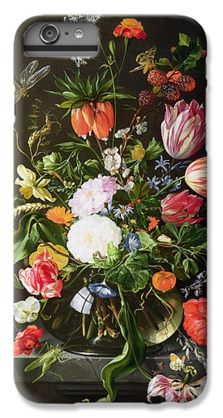 Still Life Of Flowers IPhone 6s Plus Case by Jan Davidsz de Heem