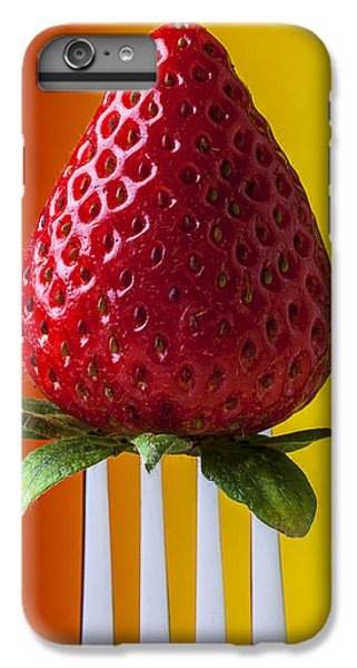 Strawberry On Fork IPhone 6s Plus Case by Garry Gay