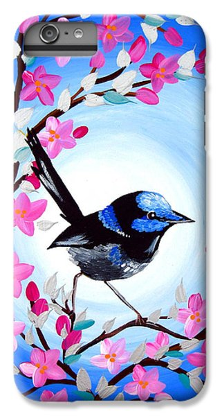 Superb Fairy Wren IPhone 6s Plus Case by Cathy Jacobs