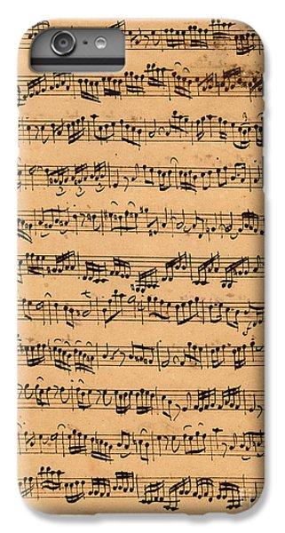 The Brandenburger Concertos IPhone 6s Plus Case by Johann Sebastian Bach