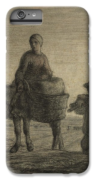 The Departure For Work IPhone 6s Plus Case by Jean-Francois Millet