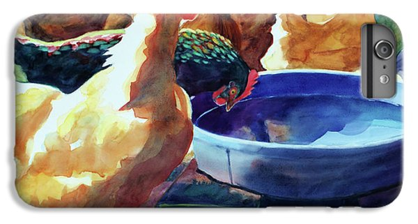 The Henhouse Watering Hole IPhone 6s Plus Case by Kathy Braud