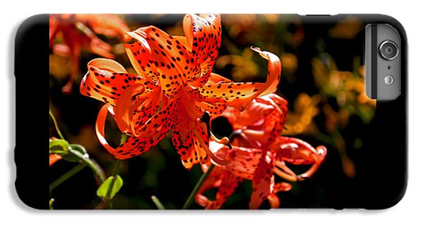 Tiger Lilies IPhone 6s Plus Case by Rona Black