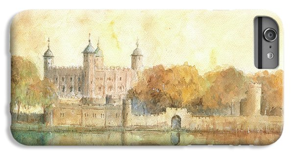 Tower Of London Watercolor IPhone 6s Plus Case by Juan Bosco