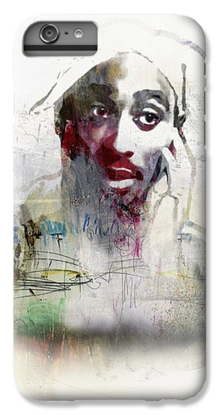 Tupac Graffitti 2656 IPhone 6s Plus Case by Jani Heinonen