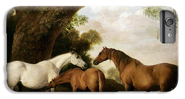 Two Mares And A Foal IPhone 6s Plus Case by George Stubbs
