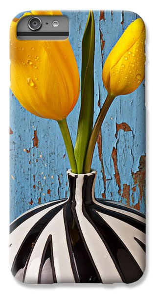 Two Yellow Tulips IPhone 6s Plus Case by Garry Gay