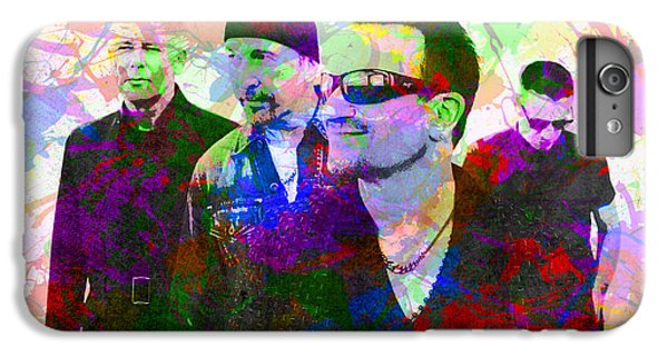 U2 Band Portrait Paint Splatters Pop Art IPhone 6s Plus Case by Design Turnpike
