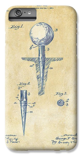 Vintage 1899 Golf Tee Patent Artwork IPhone 6s Plus Case by Nikki Marie Smith
