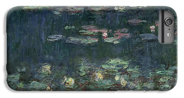 Waterlilies Green Reflections IPhone 6s Plus Case by Claude Monet