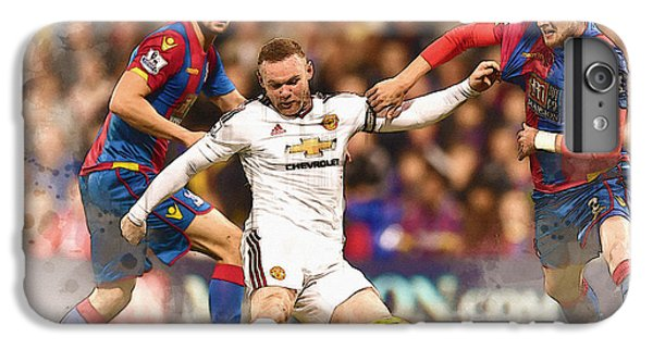 Wayne Rooney Shoots At Goal IPhone 6s Plus Case by Don Kuing
