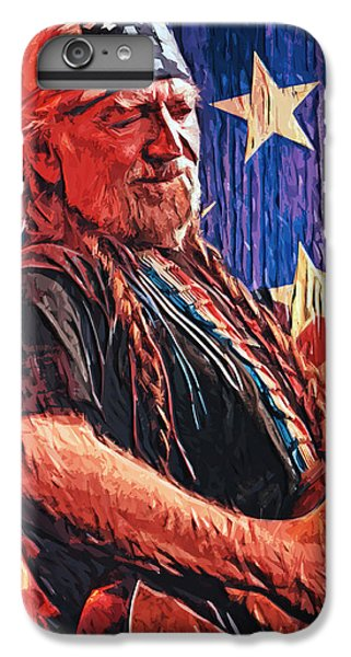 Willie Nelson IPhone 6s Plus Case by Taylan Apukovska