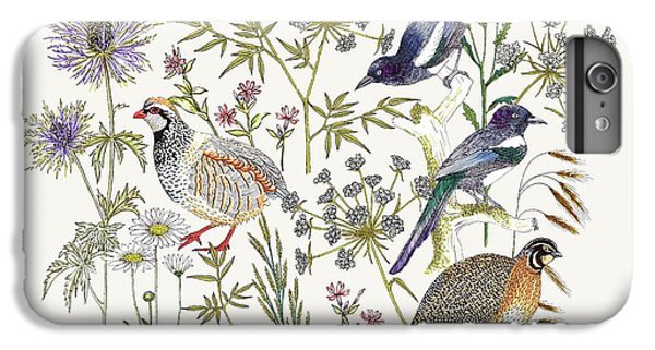 Woodland Edge Birds Placement IPhone 6s Plus Case by Jacqueline Colley