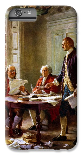 Writing The Declaration Of Independence IPhone 6s Plus Case by War Is Hell Store