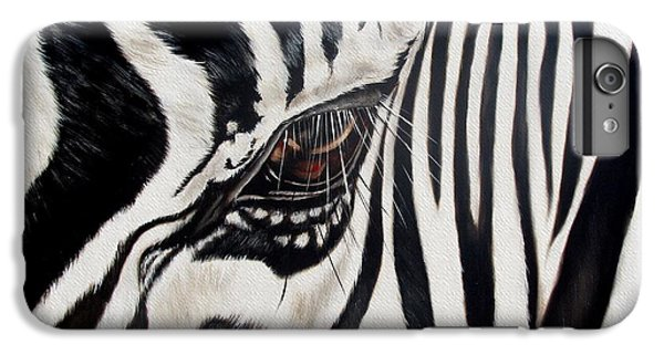Zebra Eye IPhone 6s Plus Case by Ilse Kleyn