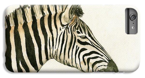Zebra Head Study Painting IPhone 6s Plus Case by Juan  Bosco