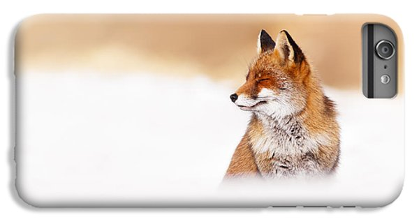 Zen Fox Series - Zen Fox In Winter Mood IPhone 6s Plus Case by Roeselien Raimond