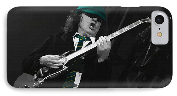 Angus Young At The Tacoma Dome In Tacoma IPhone Case by Don Kuing