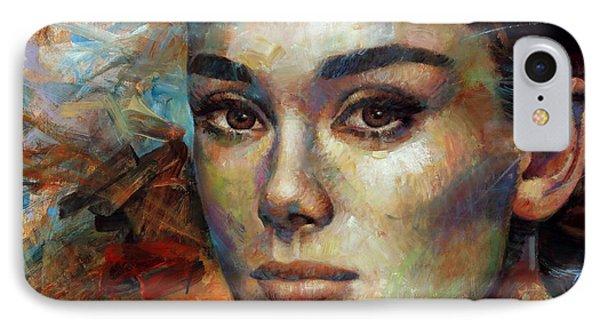 Audrey Hepburn IPhone 7 Case by Arthur Braginsky