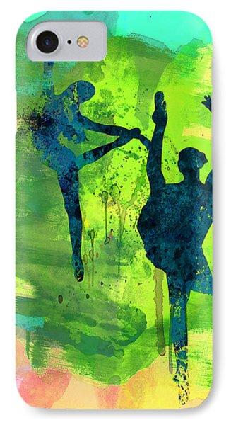 Ballet Watercolor 1 IPhone Case by Naxart Studio