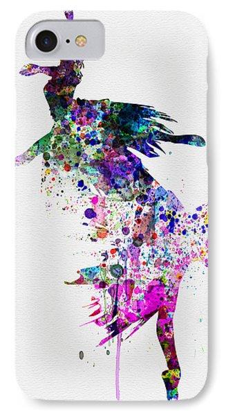 Ballet Watercolor 3 IPhone Case by Naxart Studio