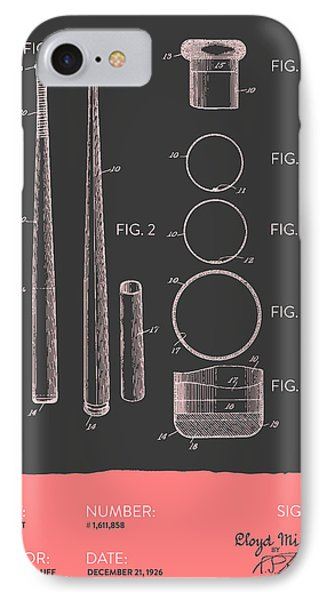 Baseball Bat Patent From 1926 - Gray Salmon IPhone Case by Aged Pixel