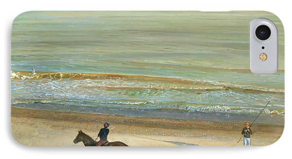 Beach Dialogue Dunwich IPhone Case by Timothy  Easton