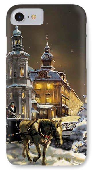 Buggy And Horse At Christmasn The Ukraine IPhone Case by Regina Femrite