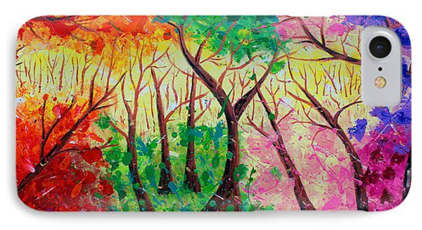 Colorful Mystical Forest Phone Case by Julia Apostolova