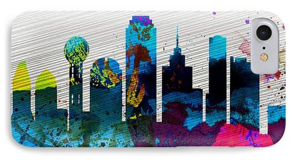 Dallas City Skyline IPhone 7 Case by Naxart Studio