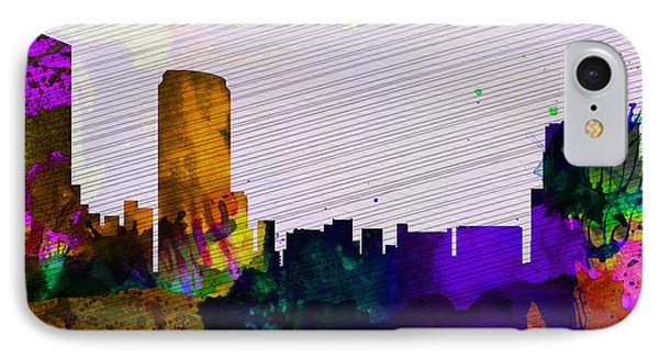 Grand Rapids City Skyline IPhone Case by Naxart Studio